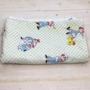 VTG Ragged Ann & Andy kids baby quilted blanket